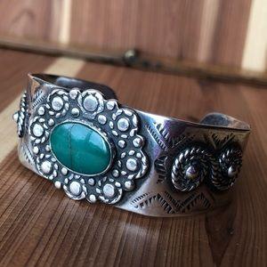 Native vintage sterling silver Cuff Bracelet